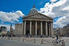 De bouw van het pantheon in Parijs stock afbeeldingen
