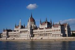 De bouw van het parlement Boedapest Stock Afbeelding