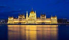 De bouw van het Parlement in Boedapest, Hongarije Stock Fotografie