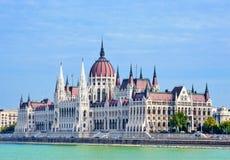 De bouw van het Parlement, Hongarije. Royalty-vrije Stock Afbeelding