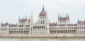 De bouw van het Parlement (Hongarije) stock afbeelding