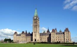 De Bouw van het Parlement van Canada Stock Afbeelding