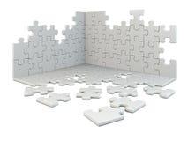 De bouw van het raadsel vector illustratie