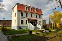 De bouw van het Regionale Museum - Europees Geldcentrum, in Bydgoszcz, Polen royalty-vrije stock fotografie