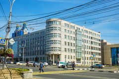 De bouw van het regionale Uitvoerende comité in Novosibirsk Royalty-vrije Stock Afbeeldingen