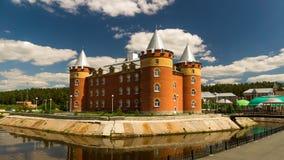 De bouw van het sanatoriumbureau in stijl van het slot wordt geconstrueerd dat Royalty-vrije Stock Fotografie