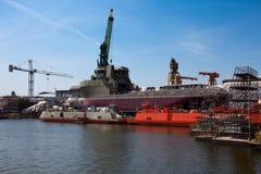 De bouw van het schip, schipreparatie? Royalty-vrije Stock Foto