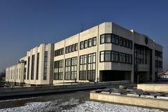De bouw van het Slowaakse Nationale Parlement stock foto's