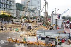 De bouw van het Spoor van Hongkong Royalty-vrije Stock Afbeeldingen