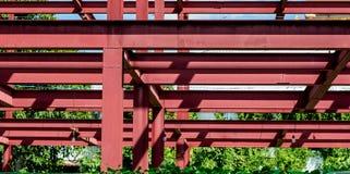 De bouw van het staalkader Stock Foto's