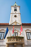 De bouw van het stadhuis stock afbeelding