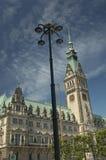 De Bouw van het Stadhuis in Hamburg Stock Foto's