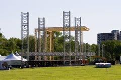 De bouw van het Stadium voor de Show Stock Foto's