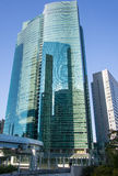 De Bouw van het stadscentrum in Shiodome, Tokyo, Japan Stock Foto