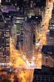 De Bouw van het strijkijzer in de Stad van Manhattan New York Stock Afbeeldingen