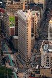 De Bouw van het Strijkijzer van de Stad van New York in Manhattan Stock Foto's