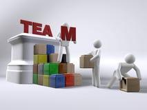 De bouw van het team Stock Foto