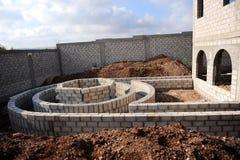 De bouw van het tuinlandschap Stock Afbeelding