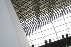 De bouw van het venster en van het staal Royalty-vrije Stock Afbeelding