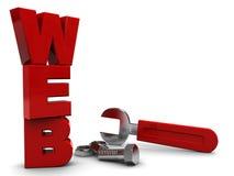 De bouw van het Web Stock Fotografie