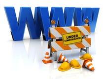 De bouw van het Web Stock Afbeelding