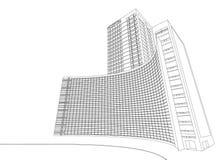De bouw van het Wireframeziekenhuis vector illustratie