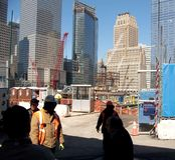 De Bouw van het World Trade Center Stock Afbeelding
