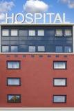 De bouw van het ziekenhuis Royalty-vrije Stock Afbeeldingen