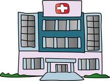 De bouw van het ziekenhuis Royalty-vrije Stock Afbeelding