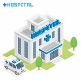 De bouw van het ziekenhuis royalty-vrije illustratie