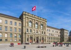 De bouw van het Zwitserse Federale Instituut van Technologie in Zürich royalty-vrije stock foto's