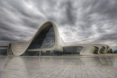 De bouw van Heydar Aliyev Center, HDR-foto Royalty-vrije Stock Foto's