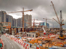 De bouw van HK Stock Fotografie