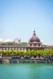 De bouw van hotelde dieu; Lyon Stock Foto's
