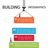 De bouw van infographics Malplaatjebouwwerven of ander p vector illustratie