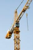 De bouw van Kraan op Blauwe Hemel Royalty-vrije Stock Fotografie