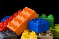 De bouw van legoblokken Stock Foto's