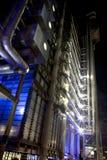 De Bouw van Lloyds bij Nacht Stock Foto's