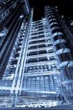 De bouw van Lloyds bij nacht Royalty-vrije Stock Afbeeldingen