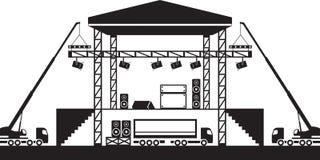 De bouw van muzikaal stadium Royalty-vrije Stock Foto
