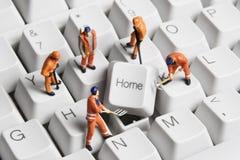 De bouw van naar huis gebaseerde zaken Stock Afbeeldingen