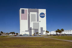 De bouw van NASA, het ruimtecentrum van Kennedy, Florida, de V.S. Royalty-vrije Stock Foto