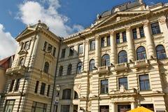De bouw van nationale filharmonisch in hoofdstad van Litouwen Vilnius Royalty-vrije Stock Foto's