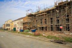 De bouw van nieuwe huisvestingslandgoed Stock Foto