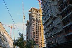 De bouw van nieuwe huizen Stock Afbeeldingen