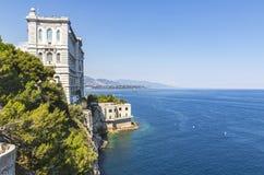 De bouw van Oceanografisch Museum in Monaco Stock Foto's