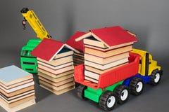 De bouw van onderwijs van boeken stock afbeelding