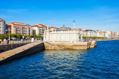 De bouw van Palaceteembarcadero in Santander stock fotografie
