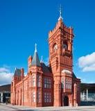 De Bouw van Pierhead bij de Baai van Cardiff royalty-vrije stock foto's