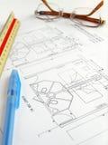 De bouw van plan, hotel Royalty-vrije Stock Foto